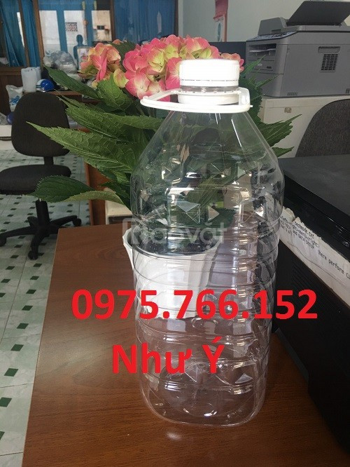 Bình PET 5l vuông, bình nước suối 5L