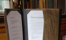 Nơi bán bìa menu da, bìa kẹp thực đơn da, nhận làm cuốn menu nhựa