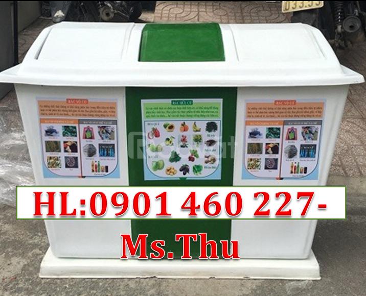 Thùng rác 2 ngăn có chốt khoá, thùng rác 3 ngăn, thùng đựng rác 2 ngăn
