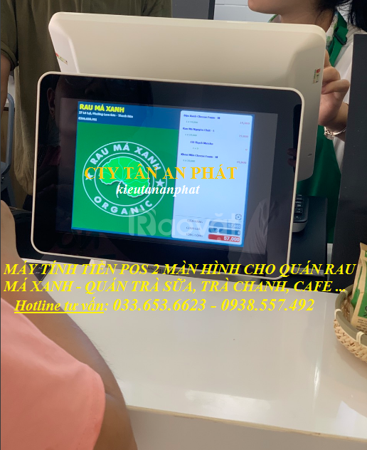 Bán máy tính tiền 2 màn hình cho quán Trà Chanh tại TpHCM