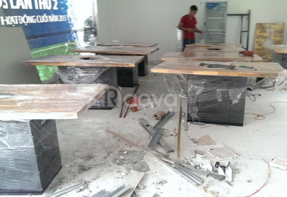 Bán buôn bán lẻ chân bàn sắt hộp sơn tĩnh điện bếp nướng (ảnh 1)