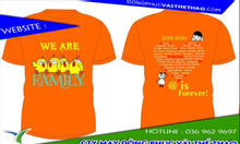 May áo thun đồng phục màu cam TpHCM