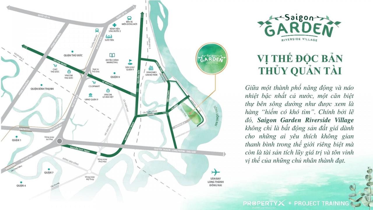 Khu biệt thự sinh thái Sài Gòn Garden Riverside Village Q9
