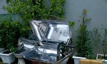 Bếp nướng sân vườn inox trắng Phù Đổng Ck585 có nắp đậy