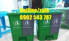 Thùng rác phân loại tại nguồn 2 ngăn, thùng phân loại rác 2 ngăn 2 màu