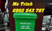Thùng rác y tế 20 lít xanh lá, thùng rác 20 lít màu xanh lá y tế