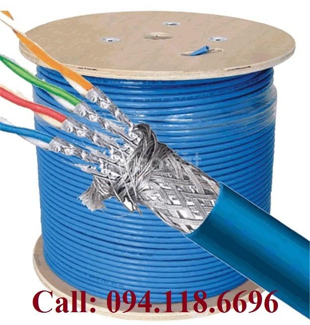 Cáp mạng Cat7 sstp bọc bạc lưới thép chống nhiễu