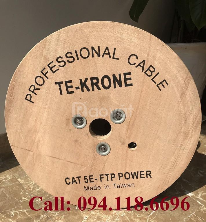 Cáp mạng liền nguồn Cat5e FTP + 2C lõi đồng ngoài trời TE-KRONE