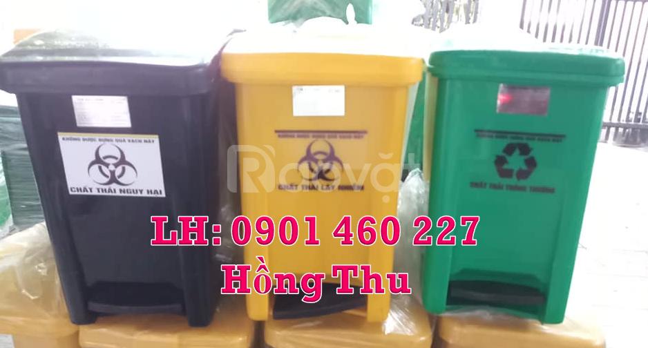 Thùng rác y tế màu đen 15 lít,thùng rác 15L màu đen