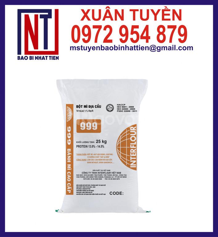 Bao pp dệt đựng bột mì 20kg, 25kg, 50kg