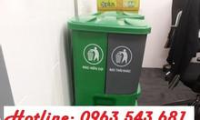 Thùng rác có 2 ngăn phân loại rác tại nguồn, thùng rác phân loại rác
