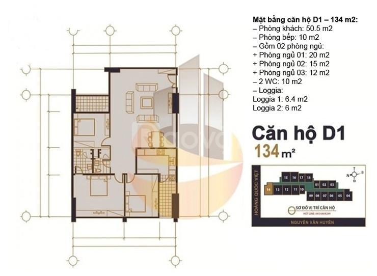 Tôi có 2 suất căn hộ dự án MHDI- 60 Hoàng Quốc Việt cần bán gấp, 100m2