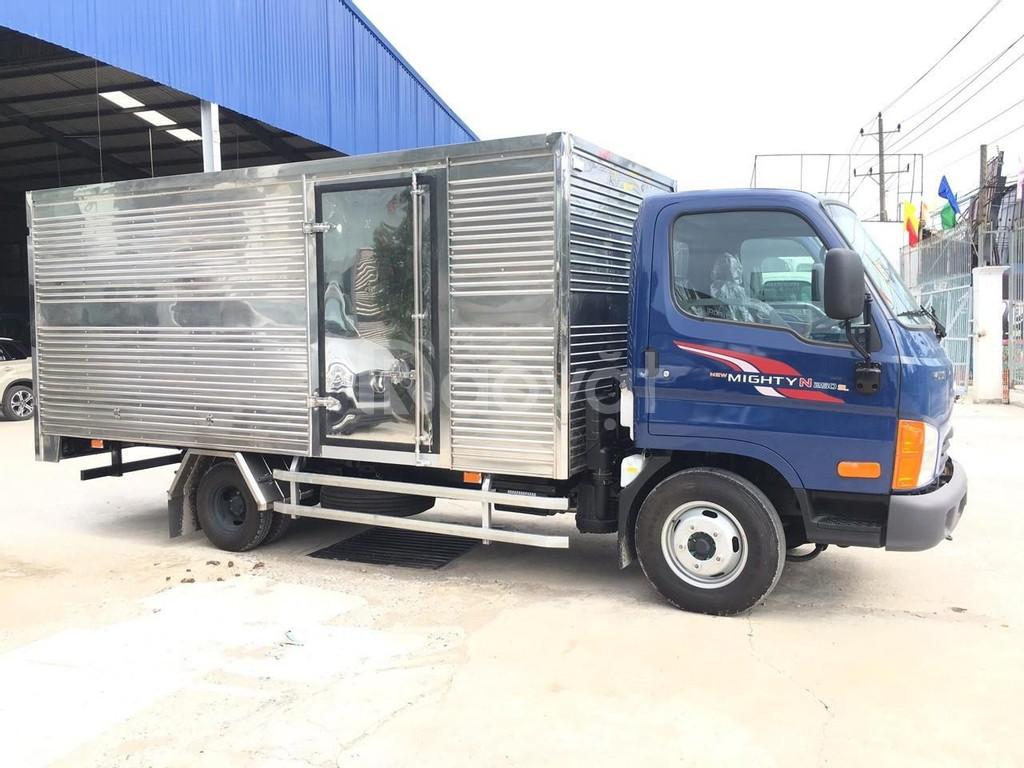 Xe huyndai tải 2 tấn 4 thùng kín 4.4m đời 2019,màu xanh