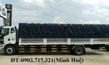 Xe tải FAW 7T25 Thùng mui bạt 9 bửng chở bao bì, mút xốp, ballet