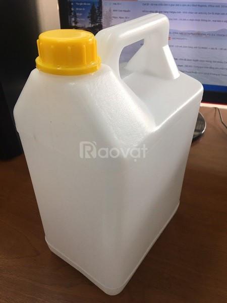 Can hoá chất 5L nắp geranty, thùng đựng hoá chất 5L