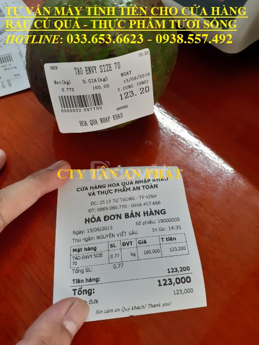 Trọn bộ máy tính tiền cho cửa hàng rau củ quả, thực phẩm sạch