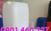 Vỏ can nhựa 20 lít, can đựng axit 25L vuông, can 30 lít màu trắng sữa