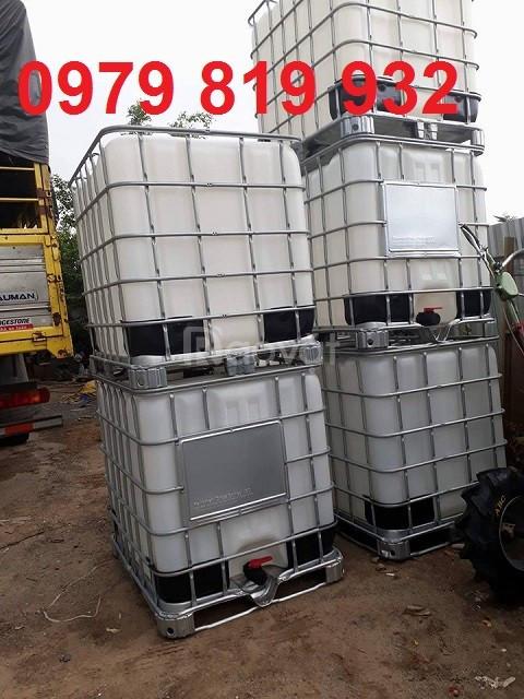 Thùng nhựa IBC 1000 lít sử dụng đựng hóa chất