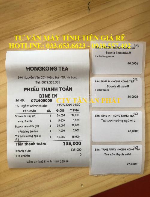 Trọn bộ máy tính tiền giá rẻ cho quán Trà sữa tại Long An