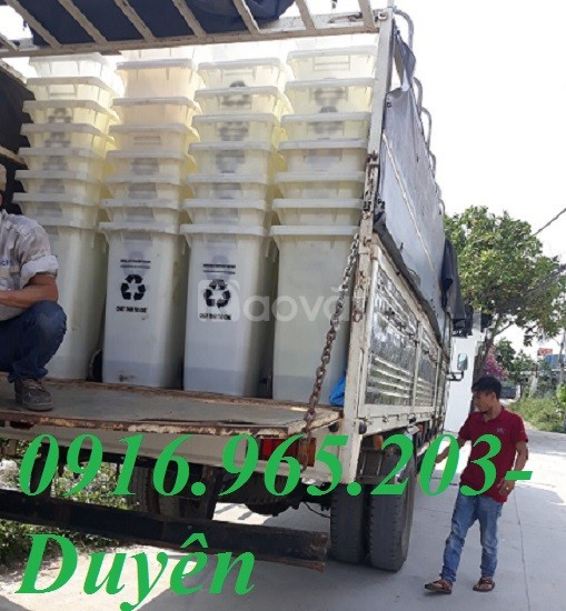 Thùng rác 240l màu trắng giá rẻ, thùng rác y tế 140l màu trắng