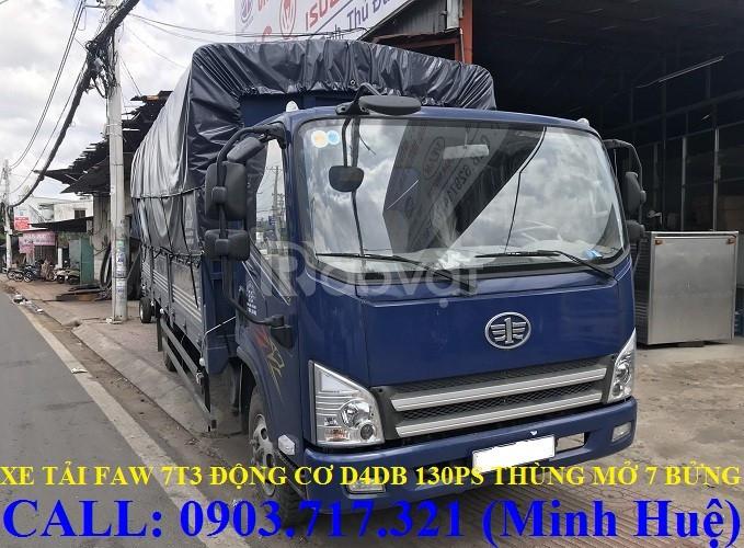 Xe tải Faw 7,3 tấn   Faw 7t3 thùng dài 6m3 động cơ hyundai D4DB ga cơ