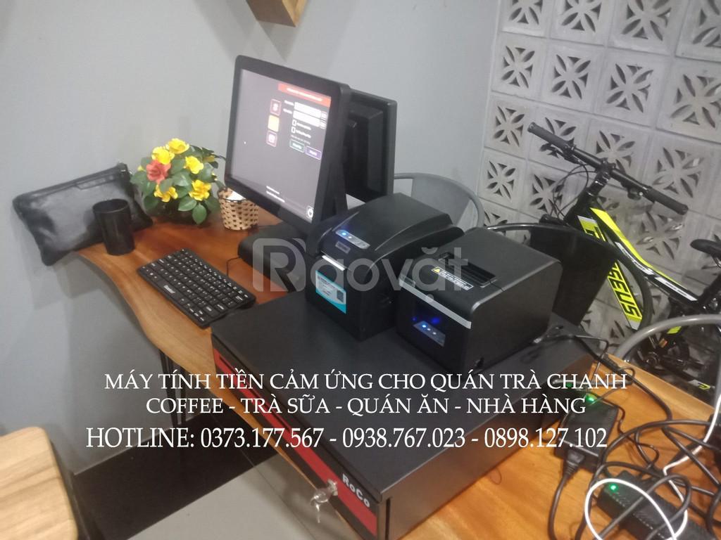 Lắp trọn bộ máy tính tiền cho quán Trà Chanh tại Hải Phòng