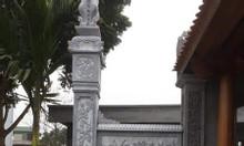 Cột đồng trụ nhà thờ họ từ đường 26 bằng đá khối tự nhiên