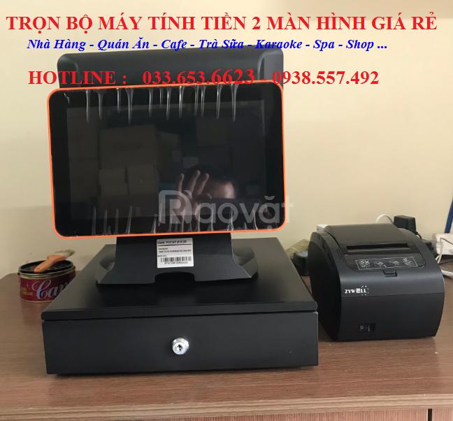 Máy tính tiền 2 màn hình cho quán Trà Chanh tại TpHCM
