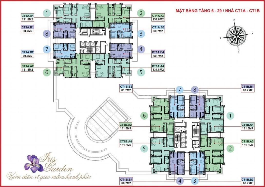 Tặng 185tr khi mua căn góc 3 PN chung cư Iris Garden, 30 Trần Hữu Dực