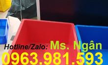 Thùng nhựa đặc B4, sóng nhựa bít B4, hộp nhựa kín có nắp B4 giá rẻ.