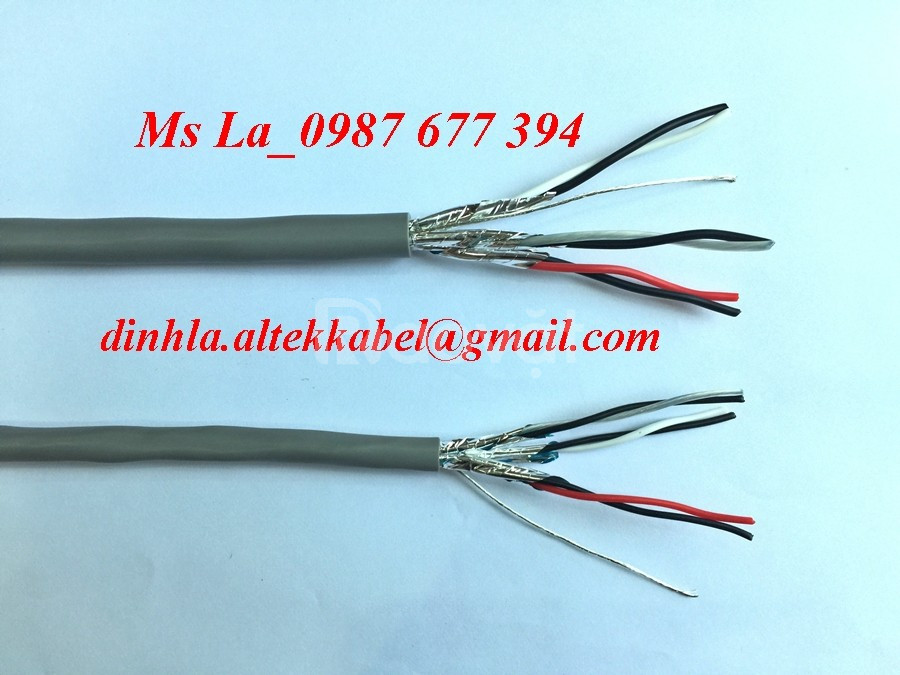 Cáp tín hiệu vặn xoắn Altek Kabel 1lớp chống nhiễu, 2 lớp chống nhiễu