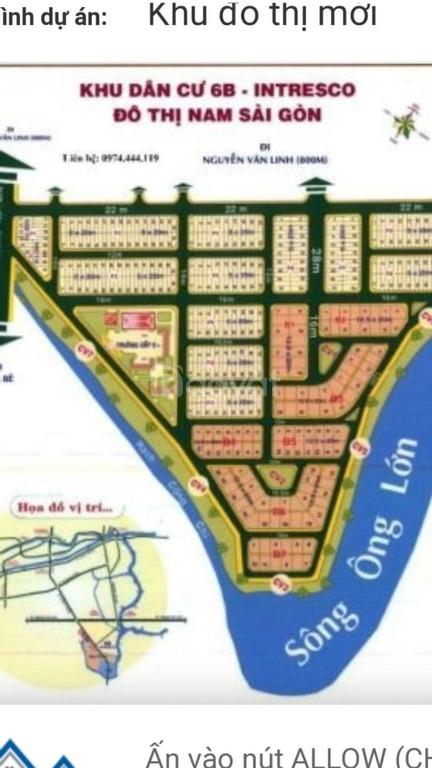 Bán lô đất khu 6b Intresco Bình Hưng, Bình Chánh, giá đầu tư