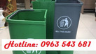 Sỉ thùng rác y tế đạp chân 2 ngăn,thùng rác 2 ngăn phân loại tại nguồn (ảnh 6)