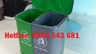 Sỉ thùng rác y tế đạp chân 2 ngăn,thùng rác 2 ngăn phân loại tại nguồn (ảnh 5)
