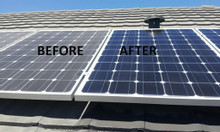 Vệ sinh tấm pin năng lượng mặt trời tại Bình Dương