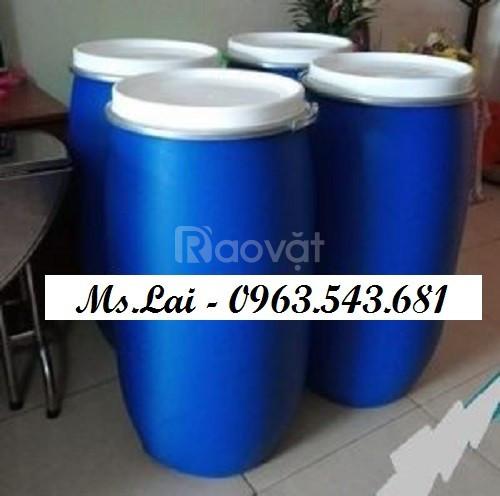 Nhà cung cấp phuy nhựa 30 lít, thùng phuy nhựa 150 lít đựng thực phẩm