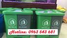 Sỉ thùng rác y tế đạp chân 2 ngăn,thùng rác 2 ngăn phân loại tại nguồn (ảnh 4)