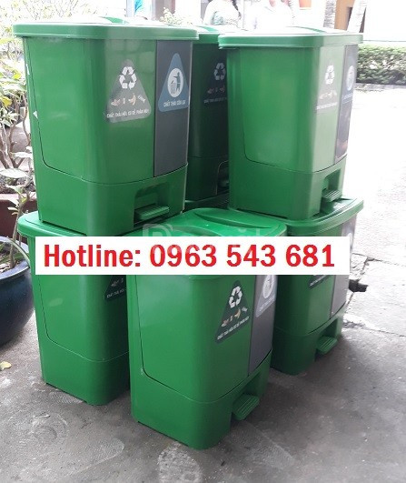 Sỉ thùng rác y tế đạp chân 2 ngăn,thùng rác 2 ngăn phân loại tại nguồn (ảnh 7)