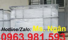 Tank nhựa 1000l, tank IBC, bồn nhựa dung tích lớn, thùng nhựa 1 khối