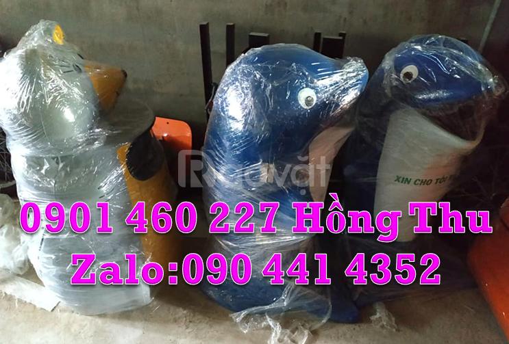 Thùng rác con vật nhựa composite, thùng rác hình thú giá rẻ