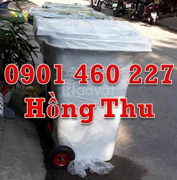 Thùng rác HDPE, thùng rác 120L giá rẻ, kích thước thùng rác 240 lít
