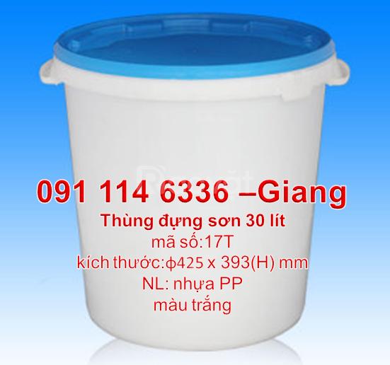 Thùng sơn nước 30 lít thùng đựng sơn 22L giá vỏ thùng sơn 20 lít TPHCM