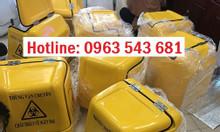 Cung cấp thùng chở rác y tế màu vàng xe máy, thùng vận chuyển rác ytế