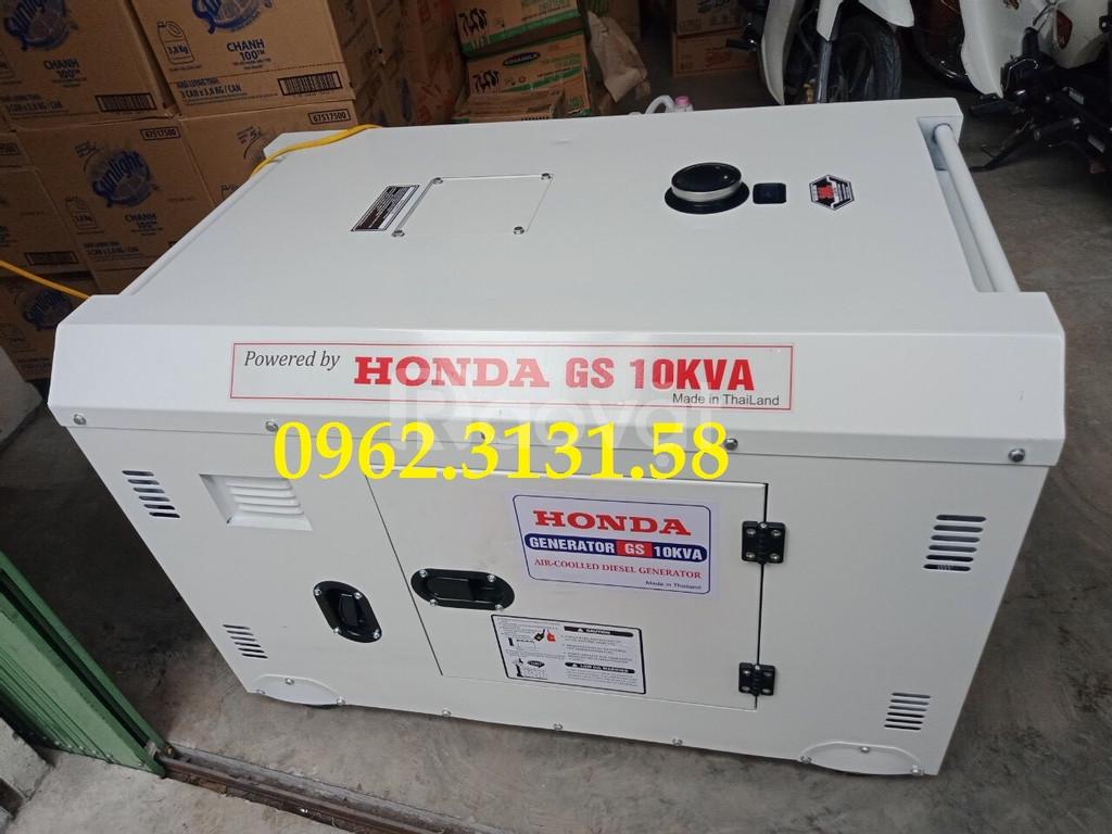 Máy phát điện chạy dầu Honda GS10KVA cách âm điện áp 1 pha Thái Lan