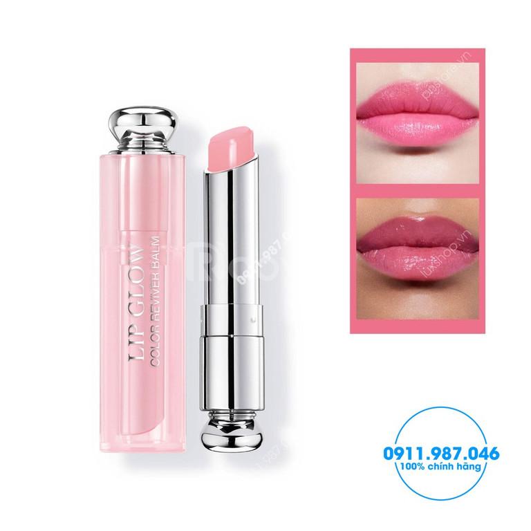 Son dưỡng môi Dior 001 màu hồng của Pháp 3.5g