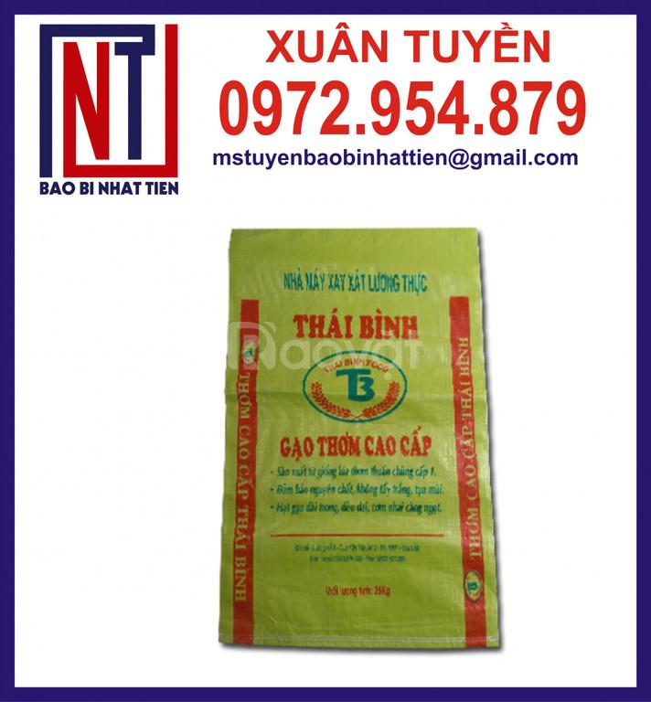 Bao bì đựng gạo 25kg, bao PP dệt đựng gạo giá rẻ