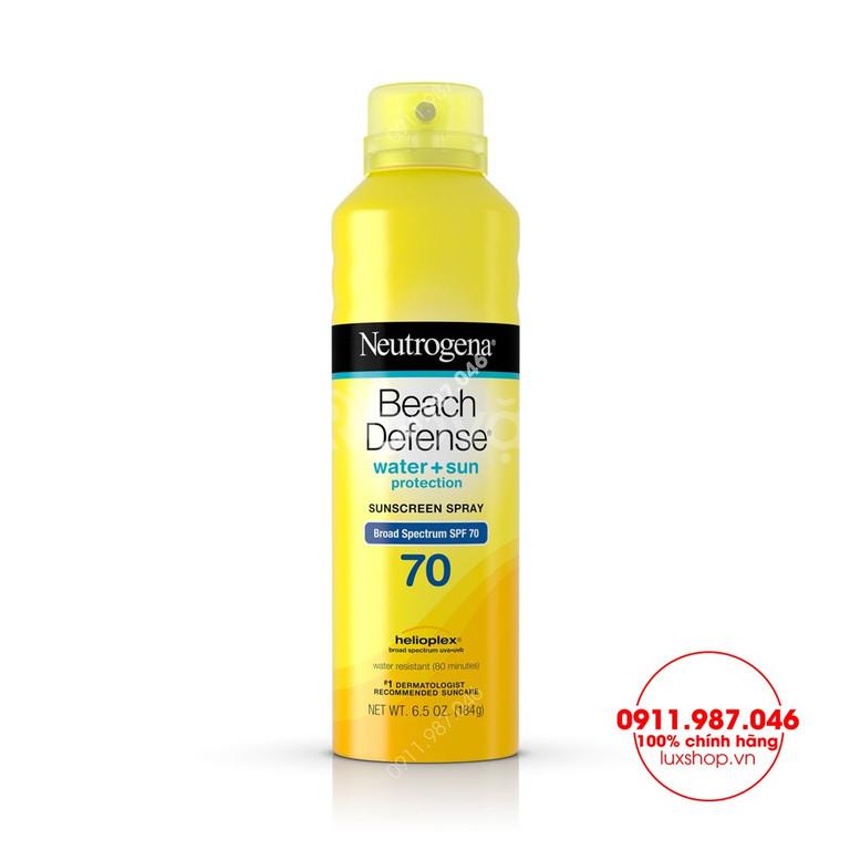 Xịt chống nắng Neutrogena Beach Defense SPF 70+ 240g chính hãng (Mỹ)