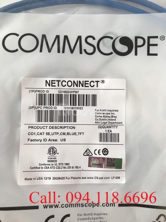 Dây nhảy Patch Cord Commscope Cat5e 2.1m mã 1859239-7 mẫu mới