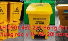 Thùng rác y tế 20L đạp chân,thùng rác 15 lít màu vàng,thùng rác y tế