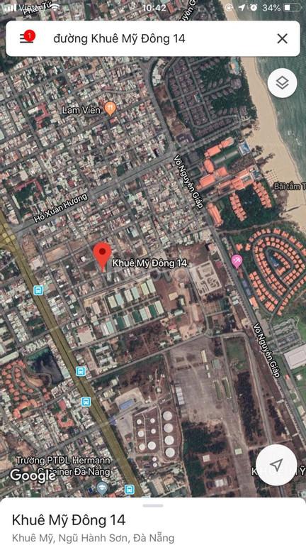 Cho thuê 2 lô đất LK 12x17 khu nhà máy cao su đường Khuê Mỹ Đông